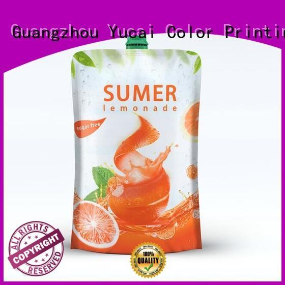beverage foil drink pouch food grade drink Yucai Brand