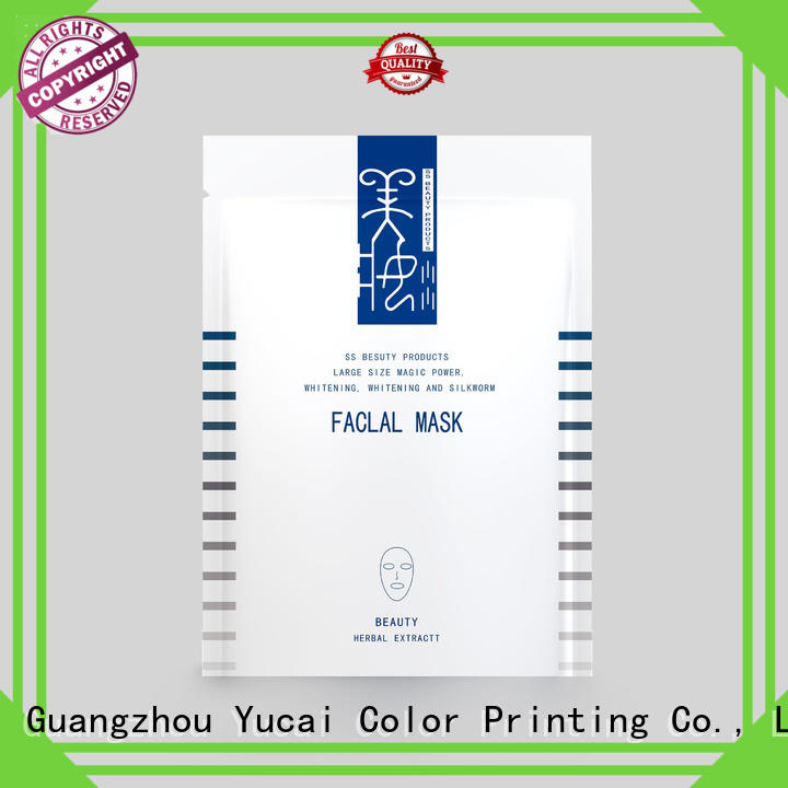 cosmetic facial face mask packaging mask Yucai Brand company