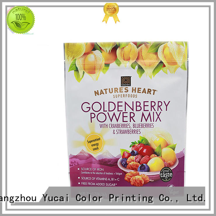 Yucai approved food packaging bags with good price for commercial