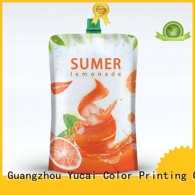 Yucai approved drink pouches inquire now for drinks