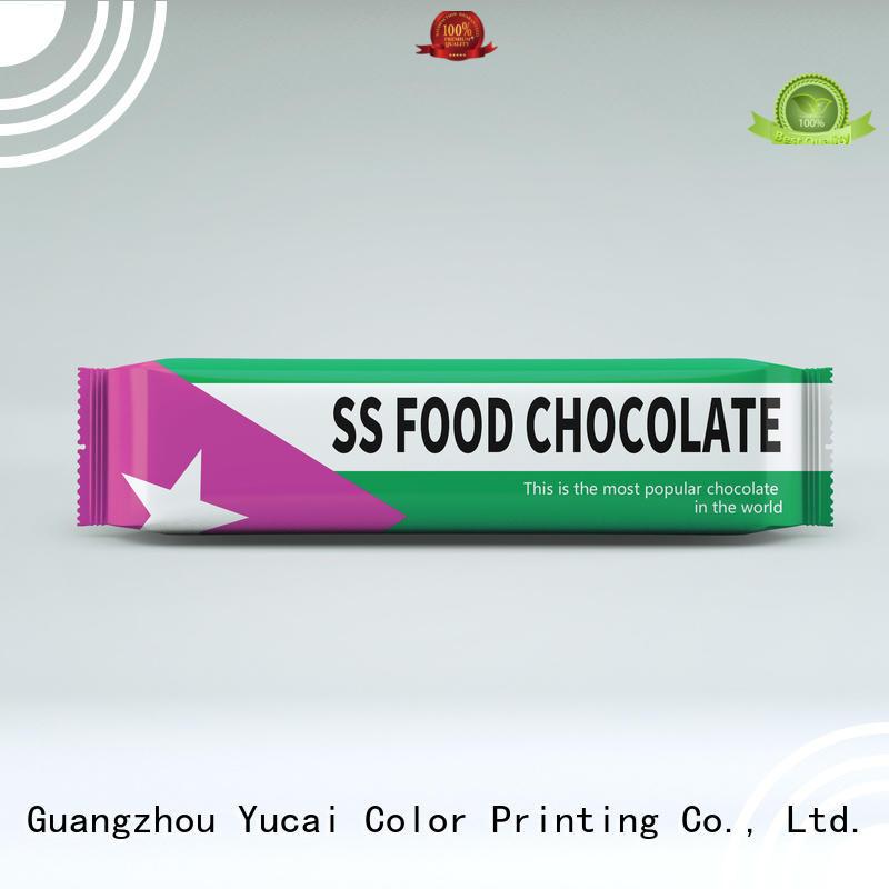 chocolate bar packaging bags Yucai Brand chocolate packaging
