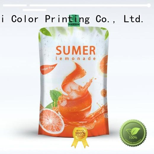 foil drink pouch food grade pouches Yucai Brand company