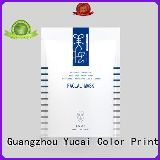 Yucai quality face mask packaging from China for food