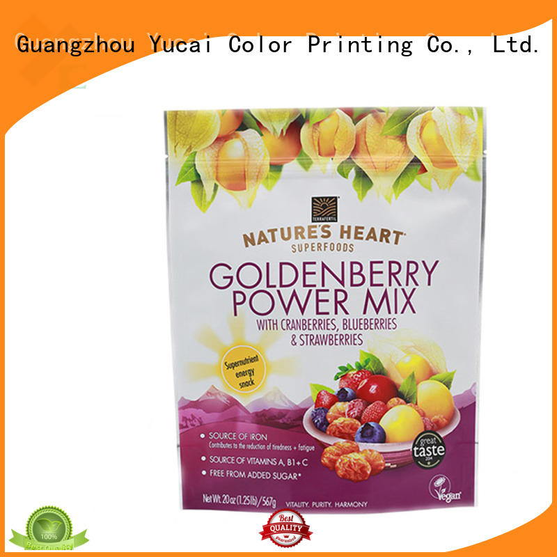 Yucai lock food packaging bags with good price for drinks