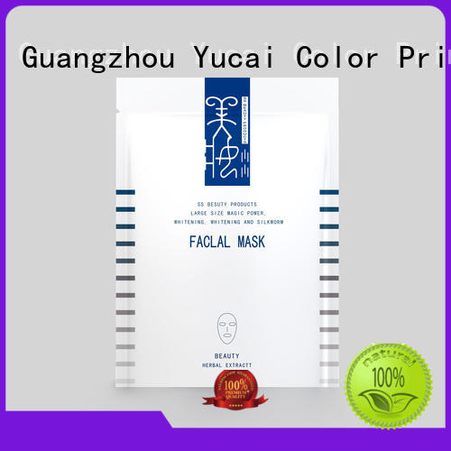 Yucai Brand plastic plastic facial mask packaging supplier mask supplier