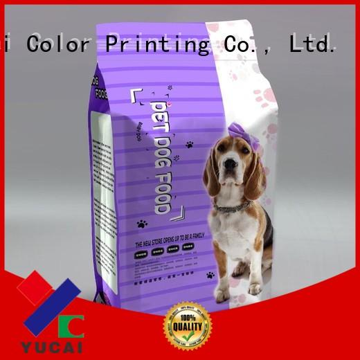 Yucai Brand stand pouches food pet food packaging manufacture