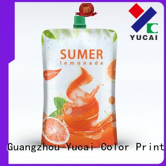 Yucai drink pouches inquire now for commercial