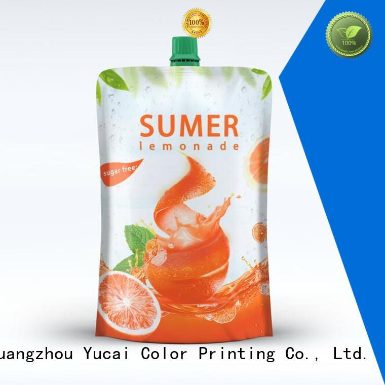 pouches food grade drink pouches spouted Yucai company