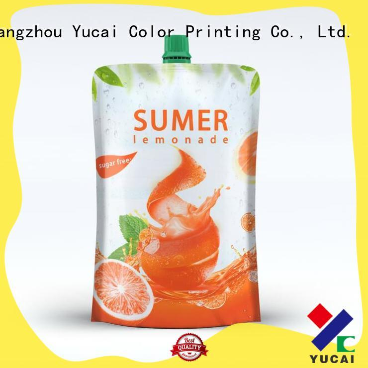 Yucai efficient beverage pouches inquire now for commercial