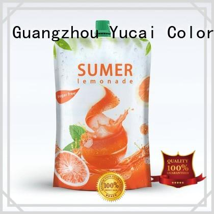 pouches packaging food grade Yucai Brand foil drink pouch factory