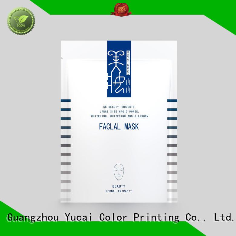 facial Custom packaging face mask packaging plastic Yucai