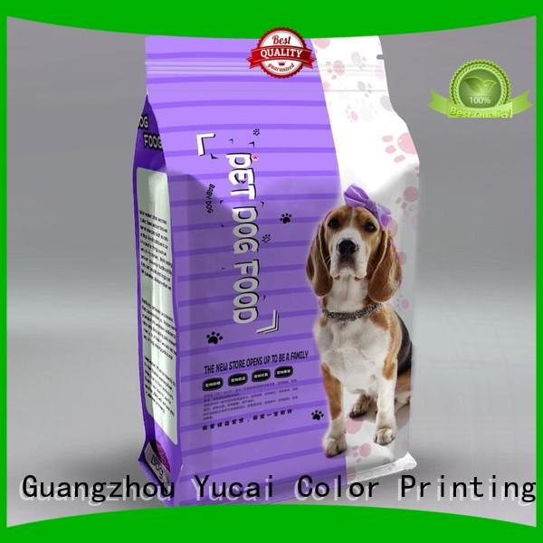 pouches Food grade pet food packaging food packaging Yucai company