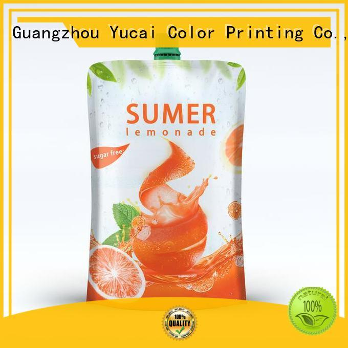 Yucai reusable drink pouches with good price for food