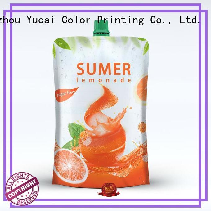Yucai pouch packaging factory for commercial