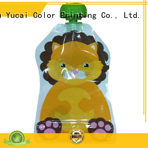 Yucai efficient drink pouches design for commercial