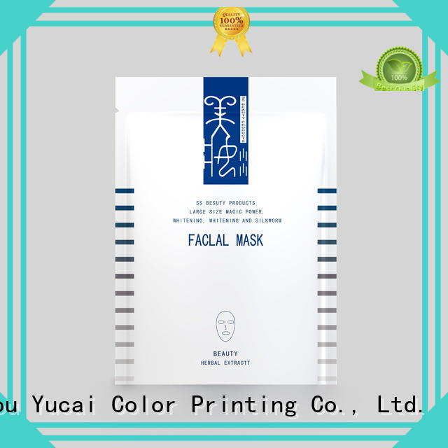 Yucai practical facial mask packaging for industry