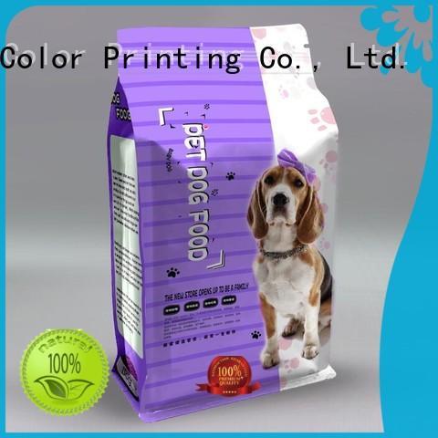flat pet food packaging bag manufacturer for food