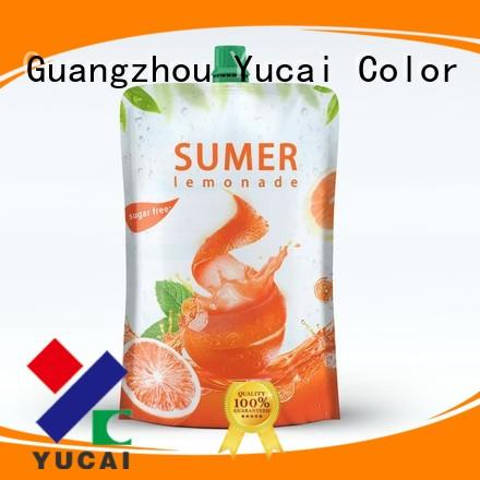 foil drink pouch spouted packaging beverage Yucai Brand company