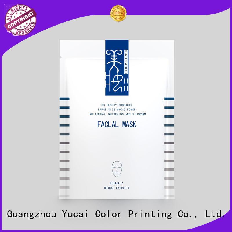packaging facial mask packaging supplier bag Yucai company