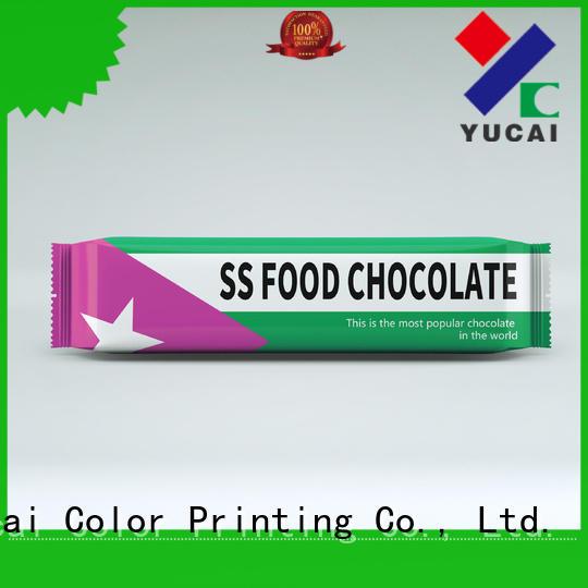 plastic chocolate chocolate bar packaging packaging Yucai company