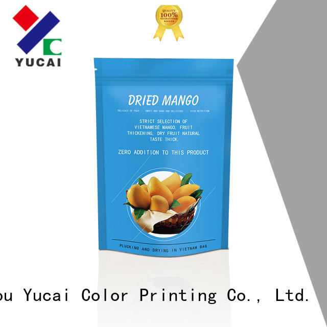 Yucai efficient food packaging bag design for industry