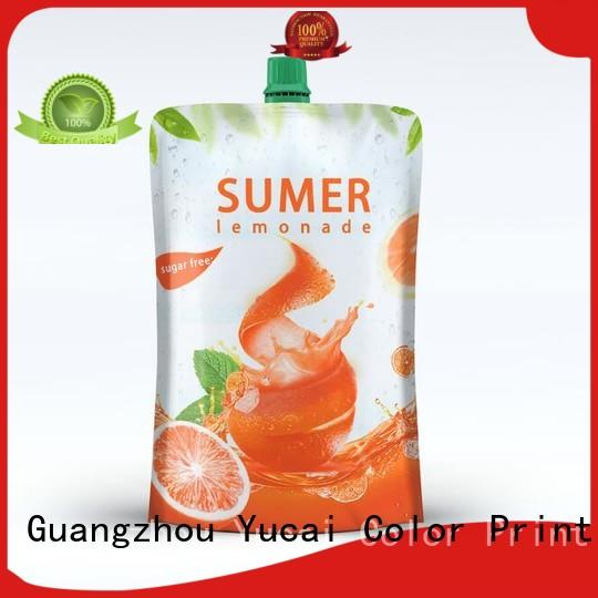 Yucai reusable drink pouches design for commercial