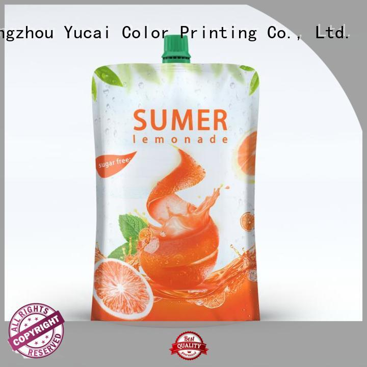 Yucai efficient pouch packaging design for food