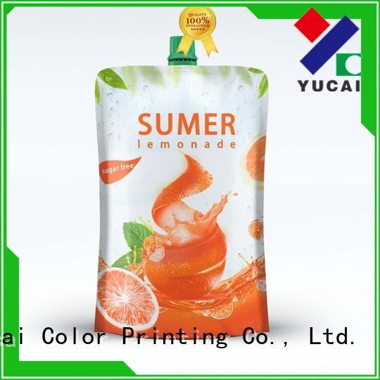 Yucai spouted drink pouches inquire now for food