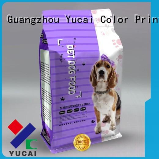 Yucai practical pet food packaging bag manufacturer for industry