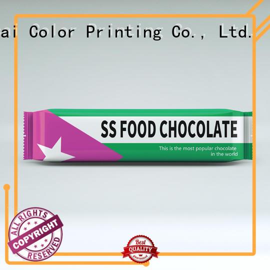 chocolates plastic Yucai Brand chocolate bar packaging factory