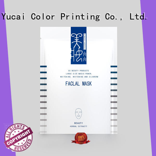 Yucai face mask packaging series for commercial