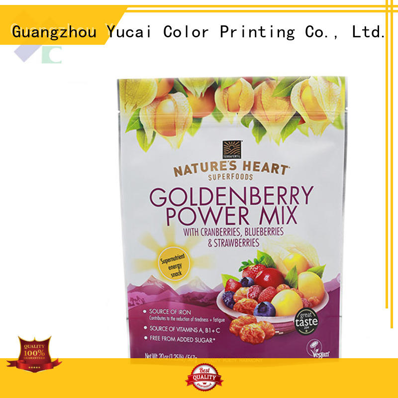 Yucai efficient food packaging bags factory for industry