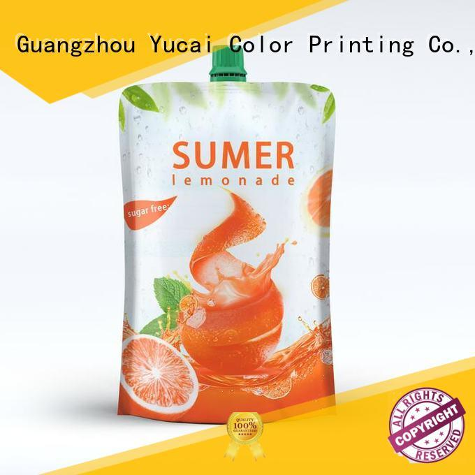 pouch packaging plastic for drinks Yucai