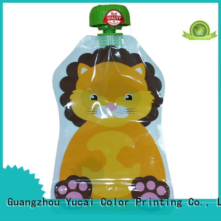 foil drink pouch spouted drink Yucai Brand company