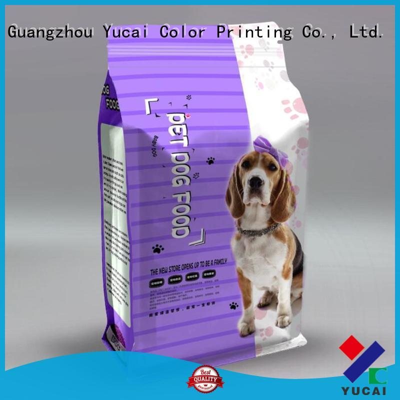 Yucai pet food packaging bag from China for commercial