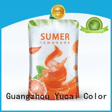 Yucai approved pouch packaging design for food