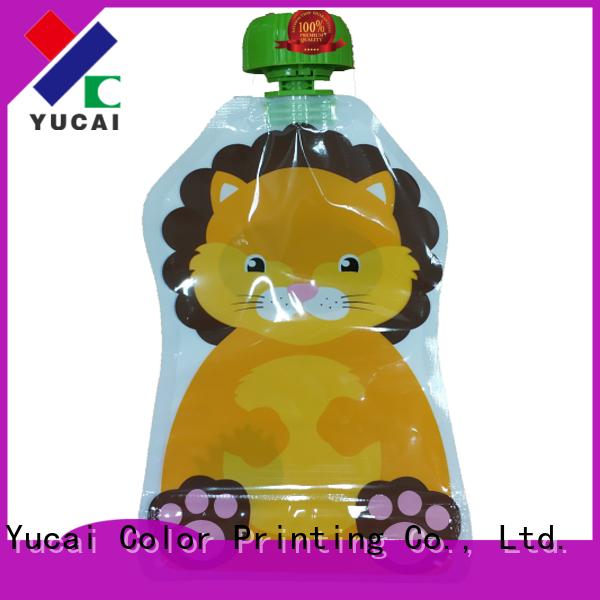 Yucai beverage pouches design for food