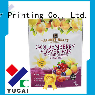 Custom stand pouches food packaging supplies Yucai packaging