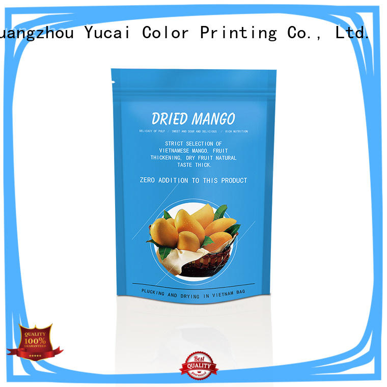Yucai ziplock food packaging bag inquire now for food