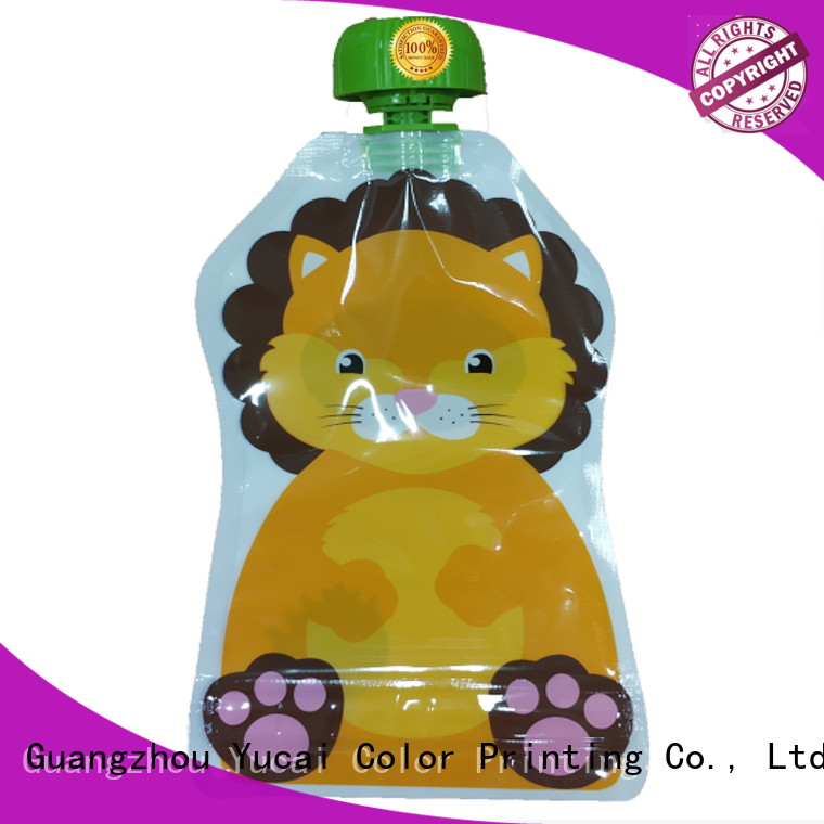 Yucai top quality drink pouches design for industry