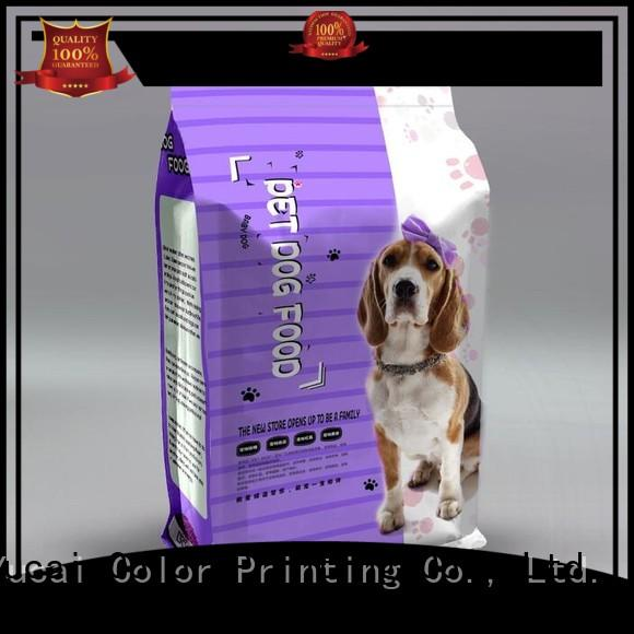 Wholesale packaging pet food bag pouches Yucai Brand