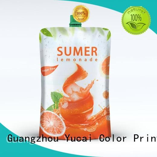 Yucai spouted drink pouches with good price for industry