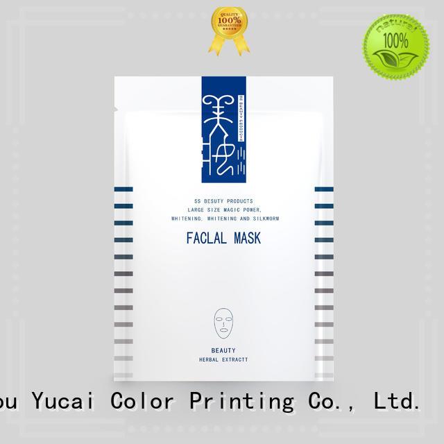 Yucai Brand plastic plastic custom facial mask packaging supplier