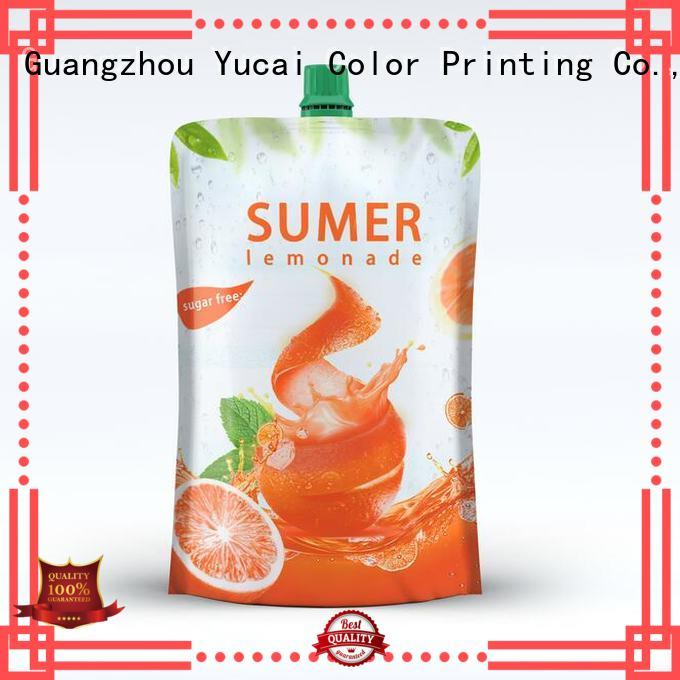 drink beverage spouted OEM drink pouches Yucai