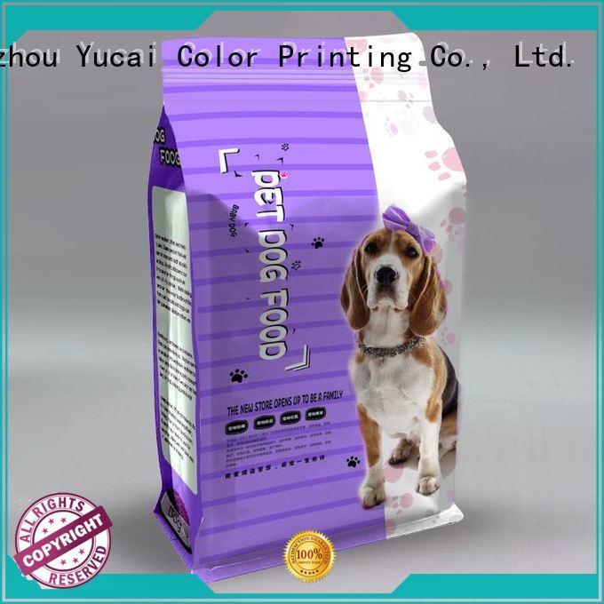 Yucai Brand stand pet food bag plastic supplier