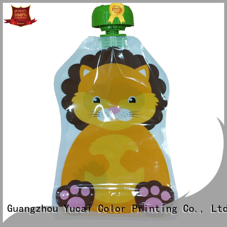 Yucai approved foil drink pouch for food