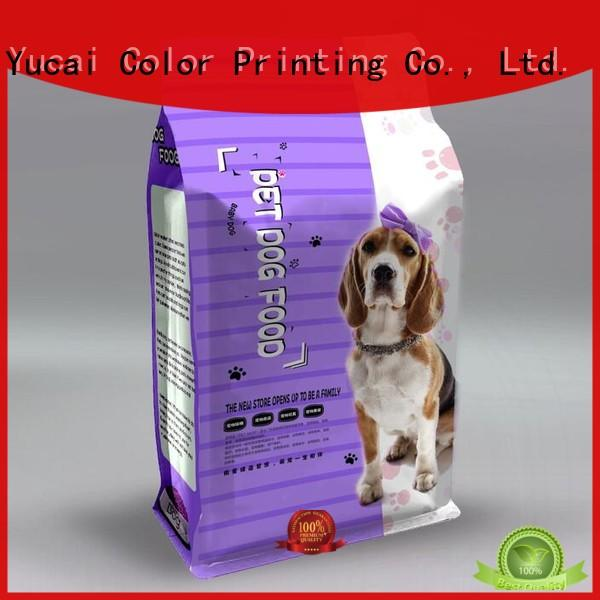 Yucai pet food packaging series for commercial