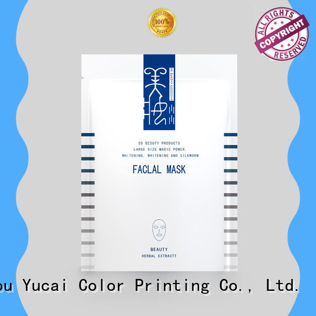 Yucai practical facial mask packaging supplier plastic for industry