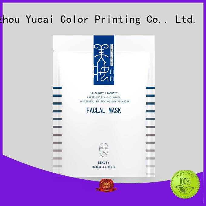 cosmetic Custom facial face mask packaging bag Yucai