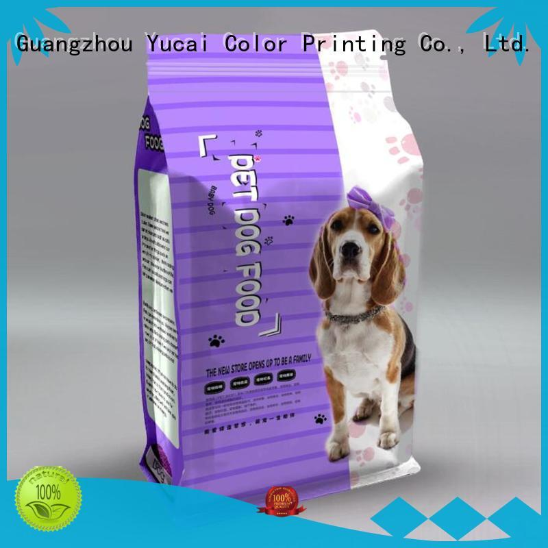 Yucai practical pet food packaging bag directly sale for industry